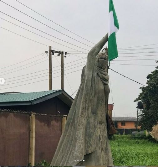 Viral Statue Of Freedom Fighter, Aisha Yesufu