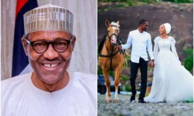 Buhari Welcomes New Daughter-In-Law, Zahra In Style Into Family