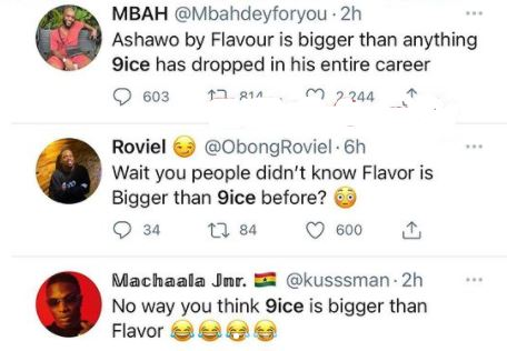 Fans comFans compare 9ice and Flavourpare 9ice and FlavourFans compare 9ice and Flavour