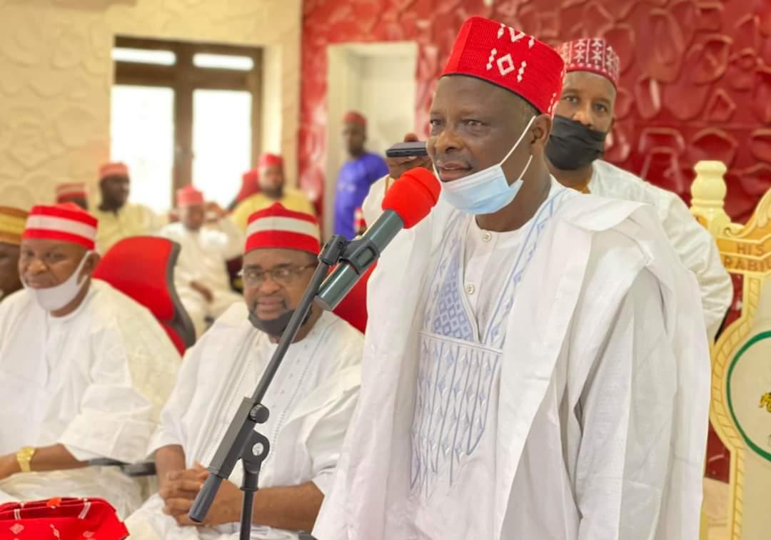 Rabiu Musa Kwankwaso addressing his supporters