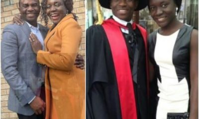 Nigerian Wife Celebrates Husband For Bagging PhD After He Worked As A Waiter, Advises Young Ladies