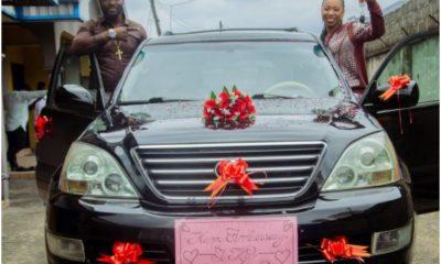 Popular Nigerian Pastor Buys 'Virtuous' Wife Multimillion Naira Car |Photos