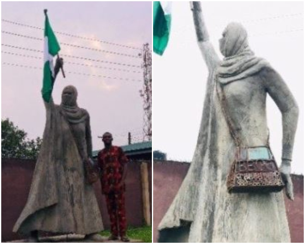 'Place It At Lekki Tollgate' Nigerian React To Viral Statue Of Freedom Fighter, Aisha Yesufu