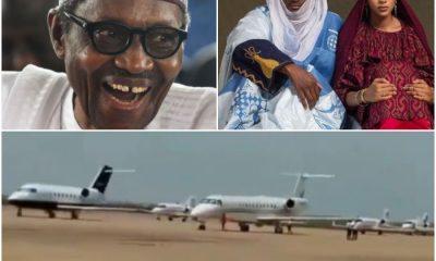 Private Jet at Buhari's son weddings