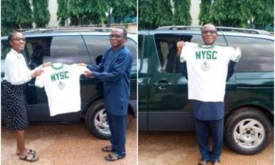 Proud Father Passes Down His 37-Year-Old NYSC Shirt To His Daughter