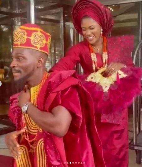 First Photos From BBNaija's Tobi Bakre Engagement Ceremony
