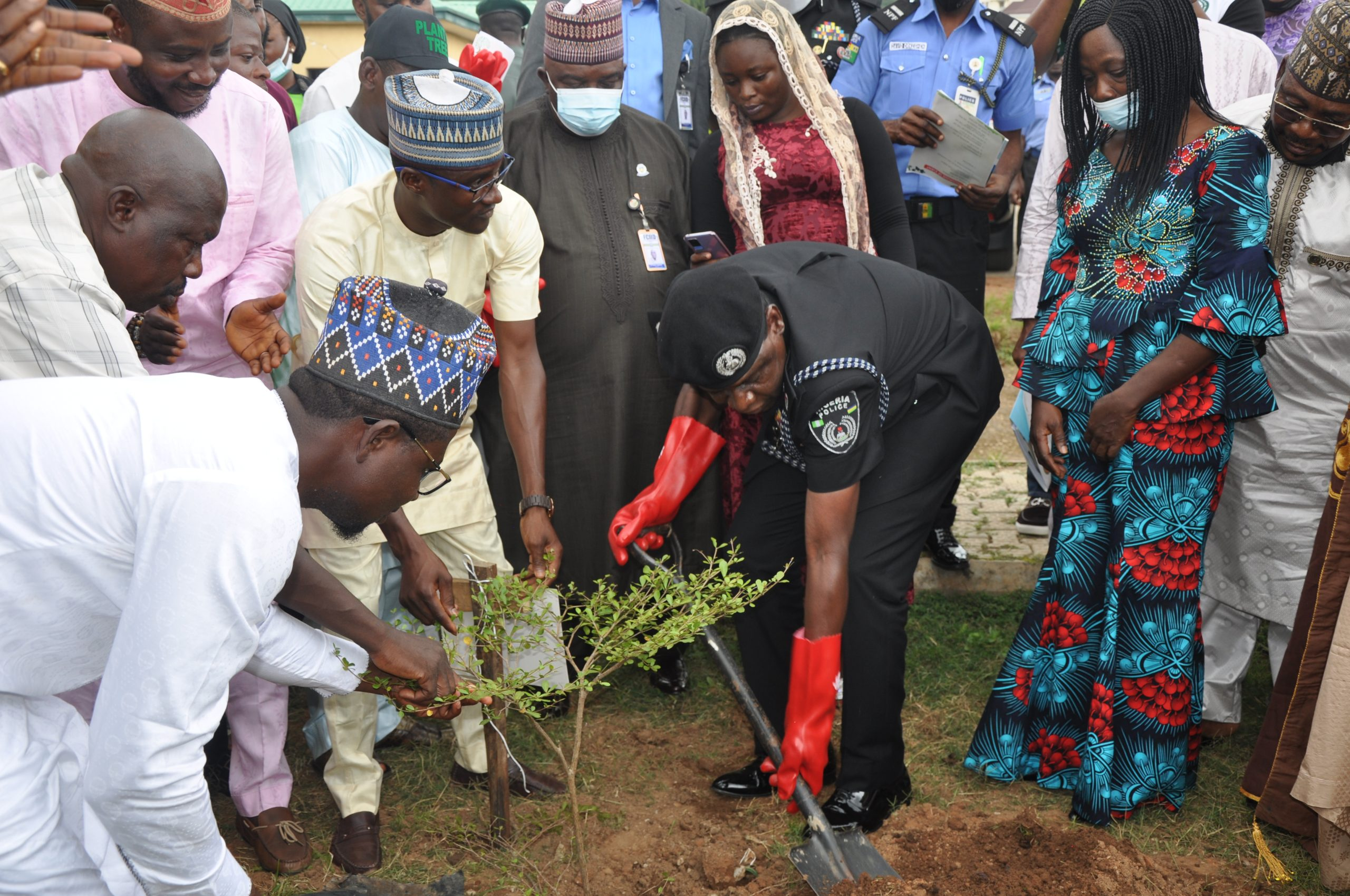 IGP Alkali represented by the DIG Training at the flag-off of One Nigerian One Tree initiative in Abuja.JPG
