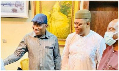 Jonathan during a visit to the home of Fani-kayode