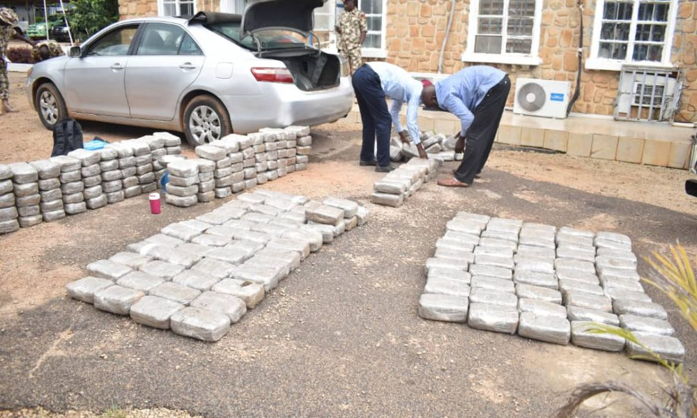 Retired Soldier Arrested With Hard Drugs Worth About ₦7.5m (Photos)