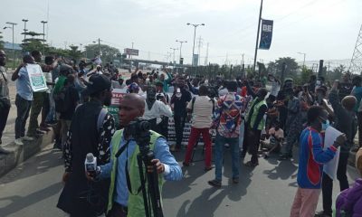 Youth protesters in Nigeria