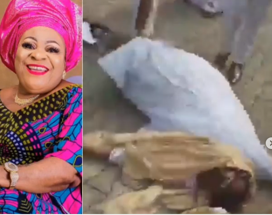 Nkechi Blessing Slumps at Mother's Burial