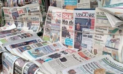 Nigerian Newspapers Daily Front Pages Review